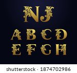 Set Golden Initial Letters A  B ...
