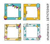 set of happy birthday frame... | Shutterstock .eps vector #1874703469