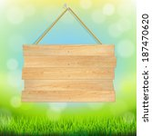 summer banner with grass  with... | Shutterstock .eps vector #187470620