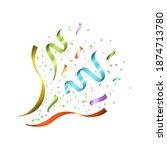 exploding celebration confetti ... | Shutterstock .eps vector #1874713780