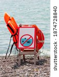 Lifeguard Chair On The Beach By ...