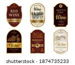 wine vintage labels. alcohol...   Shutterstock . vector #1874735233