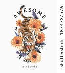 awesome attitude slogan with... | Shutterstock .eps vector #1874737576