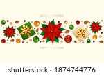 holiday banner with christmas... | Shutterstock .eps vector #1874744776