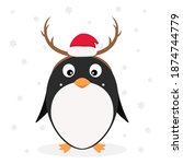 christmas theme. little cute... | Shutterstock .eps vector #1874744779