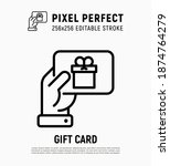 hand with gift card ... | Shutterstock .eps vector #1874764279