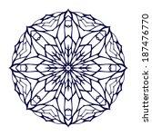 round kaleidoscopic lace... | Shutterstock .eps vector #187476770