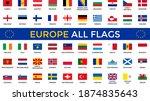 all european countries flags  ... | Shutterstock .eps vector #1874835643