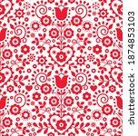 polish traditional vector... | Shutterstock .eps vector #1874853103