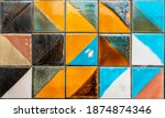 colorful tile pattern structure ...   Shutterstock . vector #1874874346