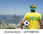 man in brazil hat and 2014