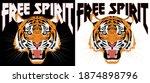 retro rock and roll free spirit ... | Shutterstock .eps vector #1874898796