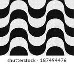 copacabana sidewalk pattern.... | Shutterstock .eps vector #187494476