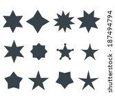 stars vector shapes set   Shutterstock .eps vector #187494794