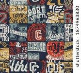 vintage american college... | Shutterstock .eps vector #1874963830