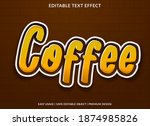 coffee text effect with bold...   Shutterstock .eps vector #1874985826