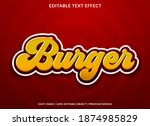 burger text effect with bold... | Shutterstock .eps vector #1874985829