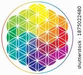 flower of life symbol in... | Shutterstock .eps vector #1875022480