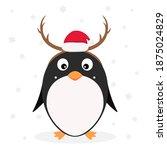 christmas theme. little cute... | Shutterstock . vector #1875024829