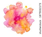 vector watercolor paint splash... | Shutterstock .eps vector #1875032173