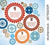3 steps   colorful infographic... | Shutterstock .eps vector #187506509