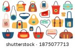 womens handbags. fashionable... | Shutterstock .eps vector #1875077713