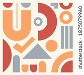 modern artwork of abstract... | Shutterstock .eps vector #1875079960