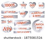 scratch cards. lottery silver... | Shutterstock .eps vector #1875081526