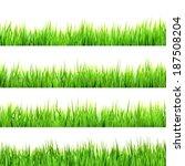 green grass isolated on white... | Shutterstock .eps vector #187508204