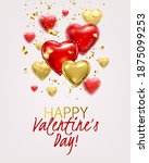 valentine's day greeting card... | Shutterstock .eps vector #1875099253