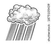 cloud rain sketch engraving... | Shutterstock .eps vector #1875105439