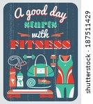 vector illustration. fitness... | Shutterstock .eps vector #187511429