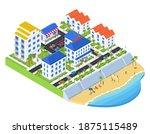 coastal city   modern vector... | Shutterstock .eps vector #1875115489