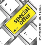 special offer button on... | Shutterstock . vector #187512038