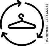 recycling clothes icon    vector | Shutterstock .eps vector #1875122353