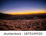 Kelso Sand Dune Sunset Golden...