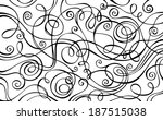 Abstract vector decorative doodles background. Hand-drawn vector illustration.