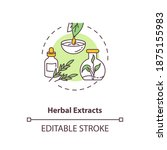 Herbal Extracts Concept Icon....