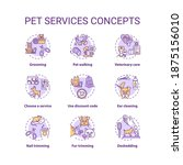 pet services concept icons set. ... | Shutterstock .eps vector #1875156010