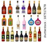set alcoholic beverages. raster ... | Shutterstock . vector #187517678