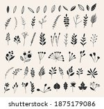 hand drawn flowers and floral... | Shutterstock .eps vector #1875179086