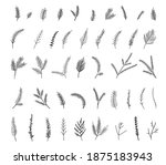 vector floral illustration with ... | Shutterstock .eps vector #1875183943