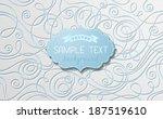 abstract vector paper... | Shutterstock .eps vector #187519610