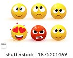 emoji objects icons. emoticon... | Shutterstock .eps vector #1875201469
