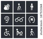 disability icons set