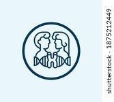 chromosome icon. simple line... | Shutterstock .eps vector #1875212449