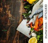 Fresh Dorado Fish And Shrimps...