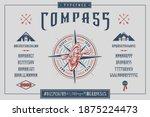 Font Compass. Craft Retro...