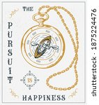 the pursuit is happiness. craft ... | Shutterstock .eps vector #1875224476