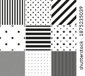 collection of vector geometric... | Shutterstock .eps vector #1875235039